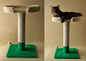 Как своими руками сделать когтеточку для кошки