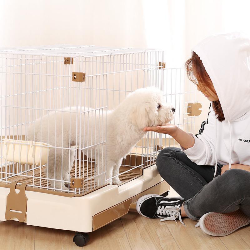 Хозяйка поставила скрытую камеру, чтобы понять, как щенок выбирается из клетки